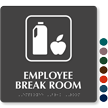 Employee Break Room Symbol TactileTouch™ Sign with Braille