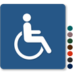 Handicapped TactileTouch Sign Symbol