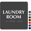Laundry Room TactileTouch™ Sign with Braille