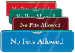 No Pets Allowed Pool Rules ShowCase Wall Sign