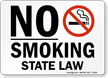 No Smoking State Law (with symbol)