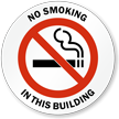 No Smoking in this Building Window Decal