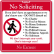 No Soliciting No Excuses
