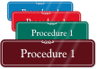 Procedure 1 ShowCase Wall Sign