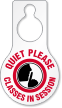 Quiet Please Classes In Session Pear Shaped Tag