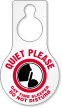 Quiet Please Day Time Sleeper Pear Shaped Tag
