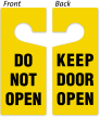 Do Not Open / Keep Open Door Hanger