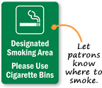 Smoking Area Signs