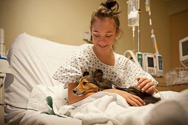 Pet visits patient