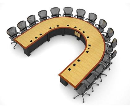 What Your Conference Table Says About Your Office - U shaped conference table designs