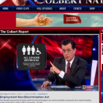 The Colbert Report takes on our 'All Gender' restroom signs