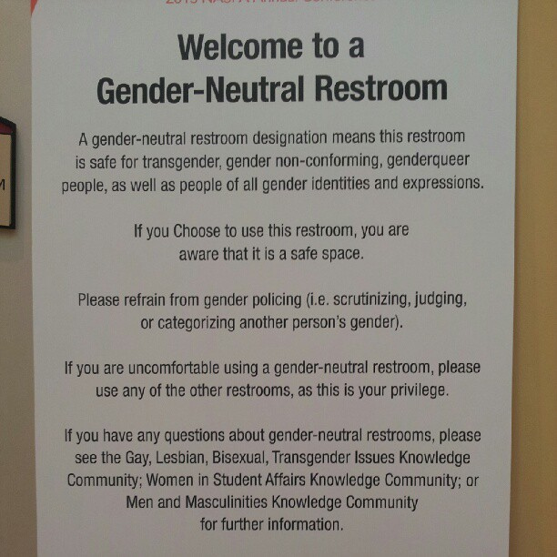 Bathroom Signs For Work the gender-neutral restroom debate: right or privilege? -