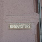 "How to enforce your ""No Soliciting"" sign"