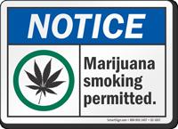 Notice Marijuana Smoking Permitted