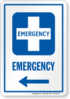 Emergency Hospital Sign
