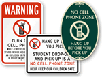 Outdoor No Cell Phone Signs