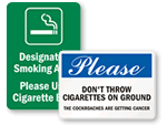 Cigarette Butt Signs