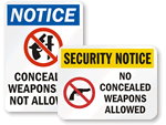 Concealed Carry Signs