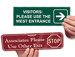 Custom Visitor Select-a-Color™ Engraved Sign