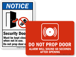 Be Careful Open Door Slowly Sign Sku S 8475