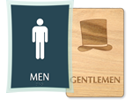 Mens Restroom Signs