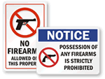 No Firearms Signs