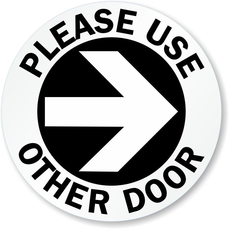 picture relating to Please Use Other Door Signs Printable named Seek the services of Other Doorway Indicators against MyDoorSign