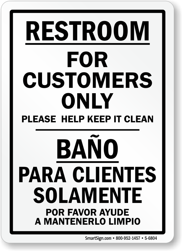 graphic relating to No Public Restroom Sign Printable referred to as No General public Restroom Signs and symptoms