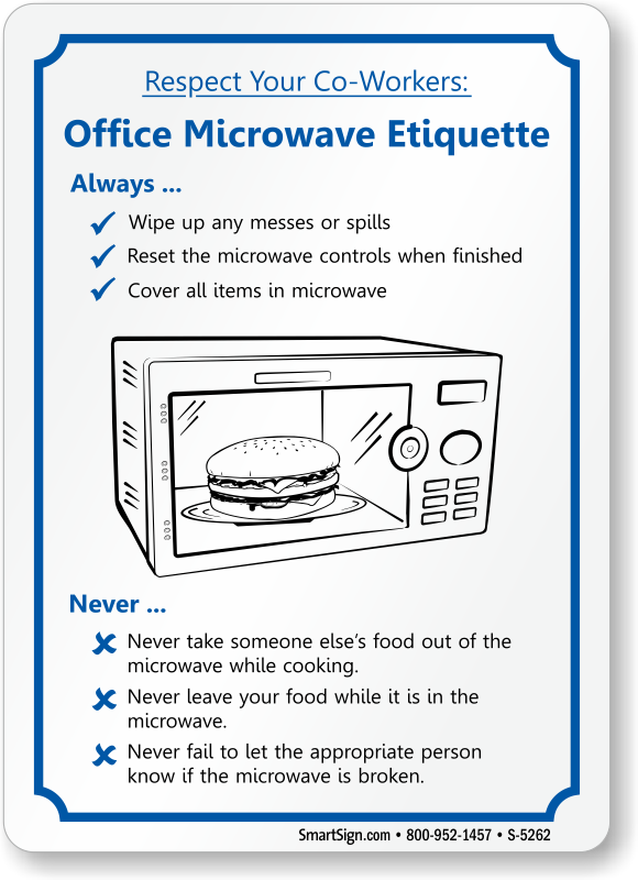 Microwave Etiquette Sign Sku S 5262