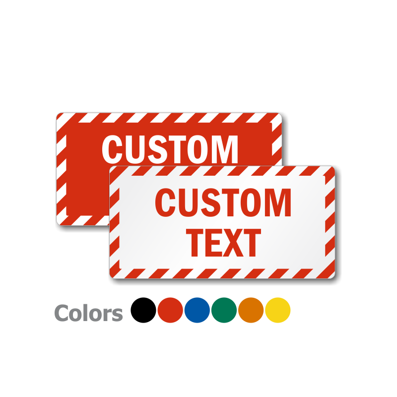 buy adhesive vinyl plastic and aluminum mini custom signs online
