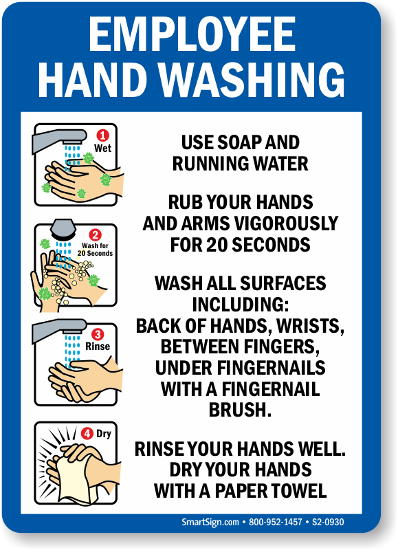 photograph about Wash Hands Sign Printable named Hand Washing Education and learning Indications