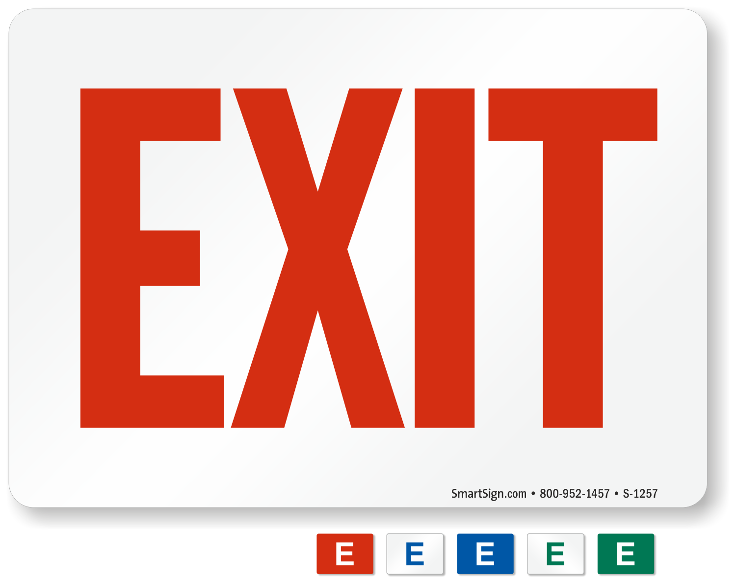 graphic regarding Escape Room Signs Printable called Free of charge Exit Signs or symptoms Down load PDF