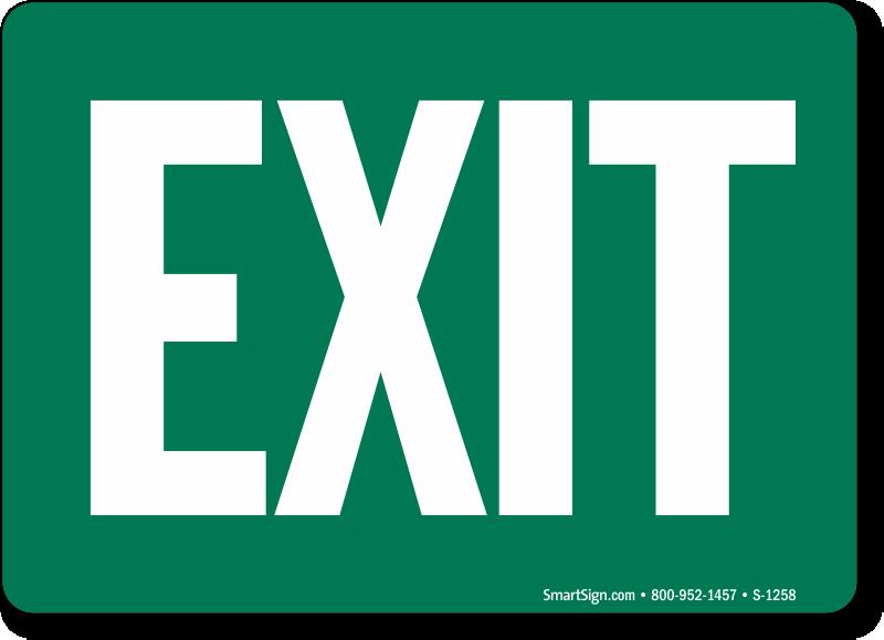 exit signs exit entrance signs sku s 1258
