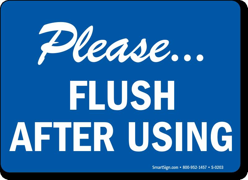 Bathroom Etiquette & Bathroom Hygiene Signs at Best Price