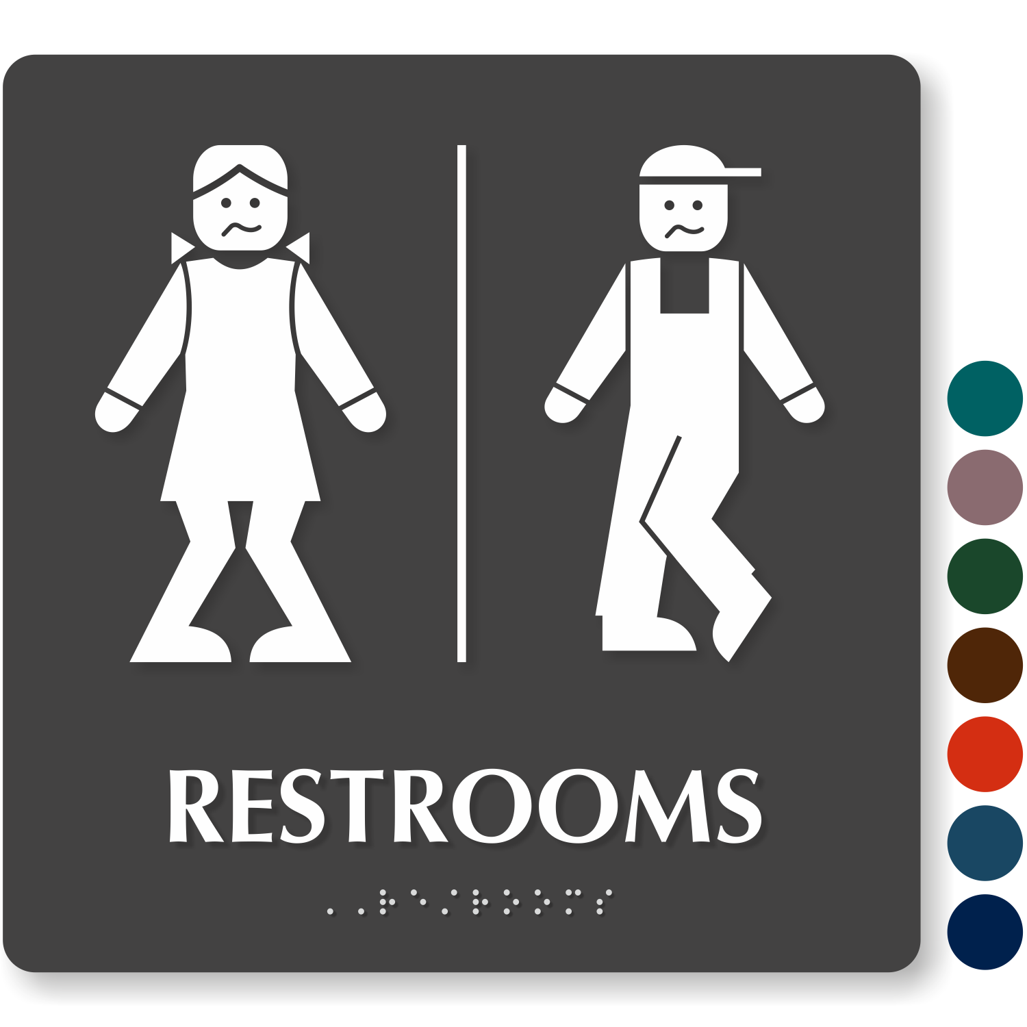 image regarding Printable Bathroom Sign named Free of charge Rest room Indications Down load PDF