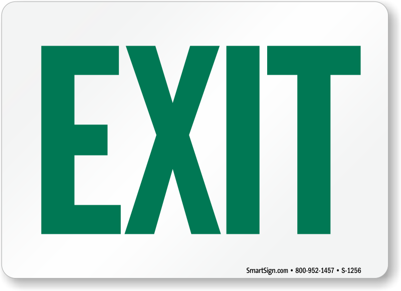 The Web S Leading Source Of Exit Signs And Exit Entrance Signs Sku