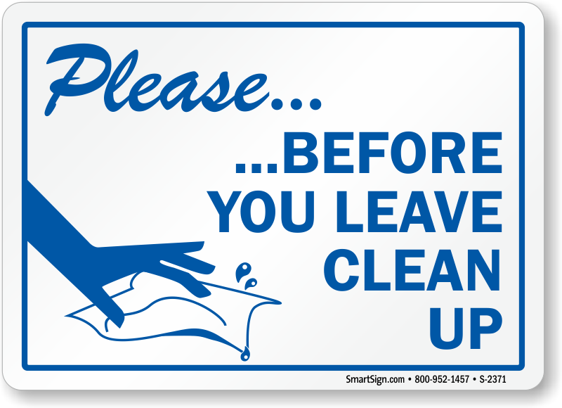 clean kitchen signs keep clean signs 737