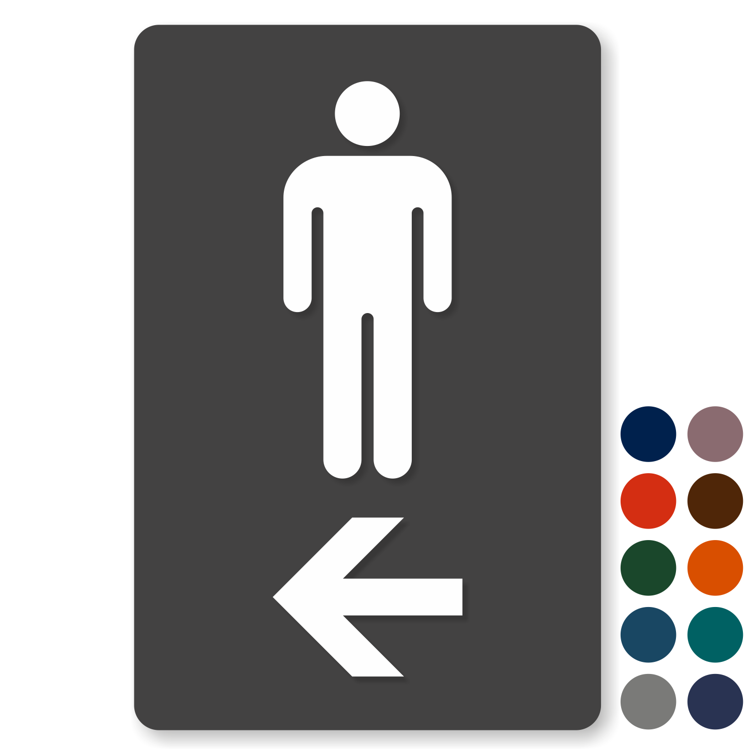Men Restroom Tactiletouch Directional Sign Sku Se 1780 L