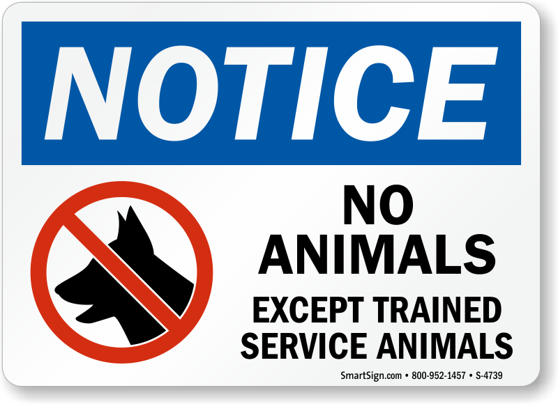 photograph relating to No Pets Allowed Except Service Animals Sign Printable known as No Animals Permitted Symptoms : Continue to keep Animals Absent