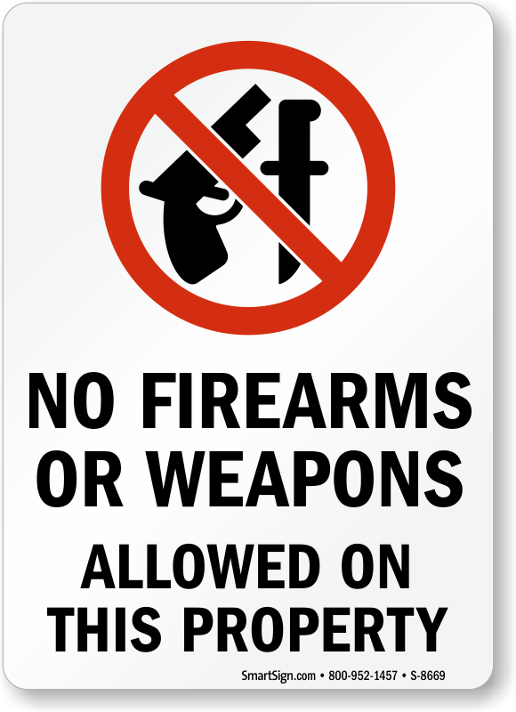photo about 30.07 Sign Printable identified as No Guns Indications No Weapons Indicators No Firearms Indications