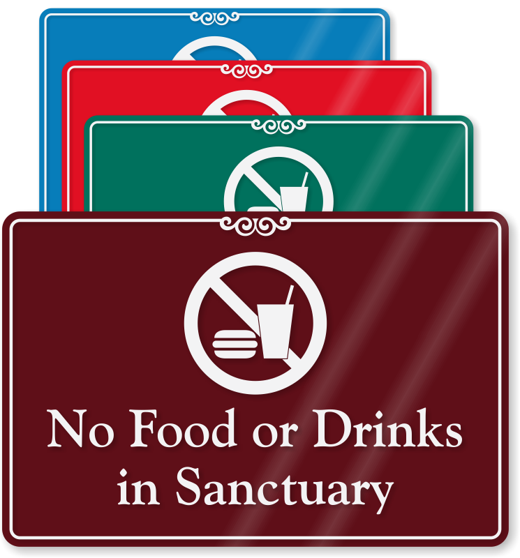 photo relating to No Food or Drink Signs Printable named No Meals Or Consume Indications - Tailor made No Meals Or Consume Indicators