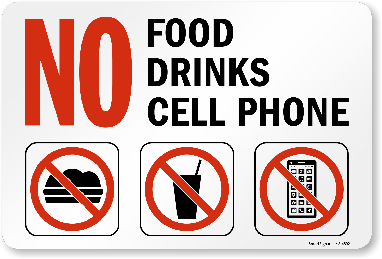 Custom No Food Or Drink Signs