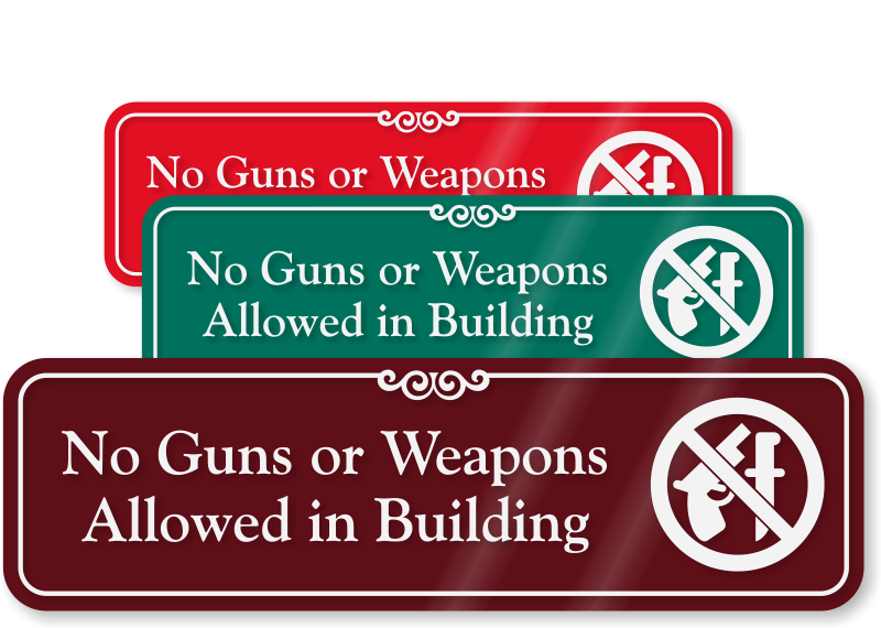image relating to 30.07 Sign Printable named No Guns Indications No Weapons Signs and symptoms No Firearms Symptoms