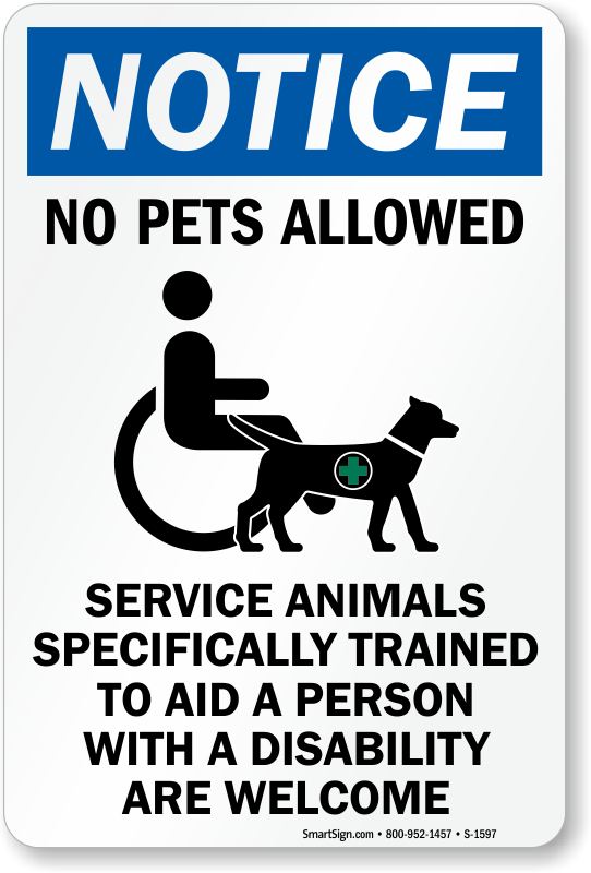 image relating to No Pets Allowed Except Service Animals Sign Printable known as No Animals Authorized Indications : Continue to keep Animals Absent