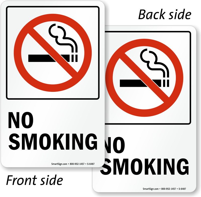 4 X CLEAR NO SMOKING STICKERS VIEW BOTH SIDES ON GLASS SIGN STICKER