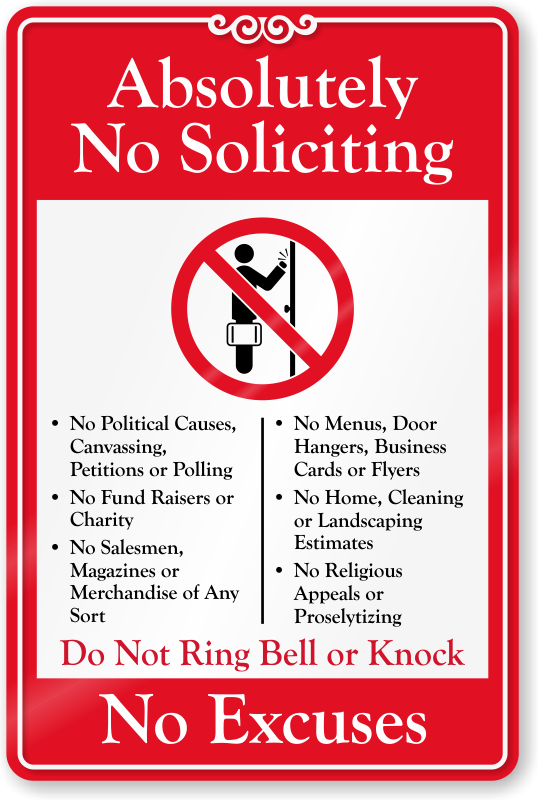 photograph regarding No Soliciting Sign Printable identified as No Soliciting Doorway Indications No Soliciting Symptoms