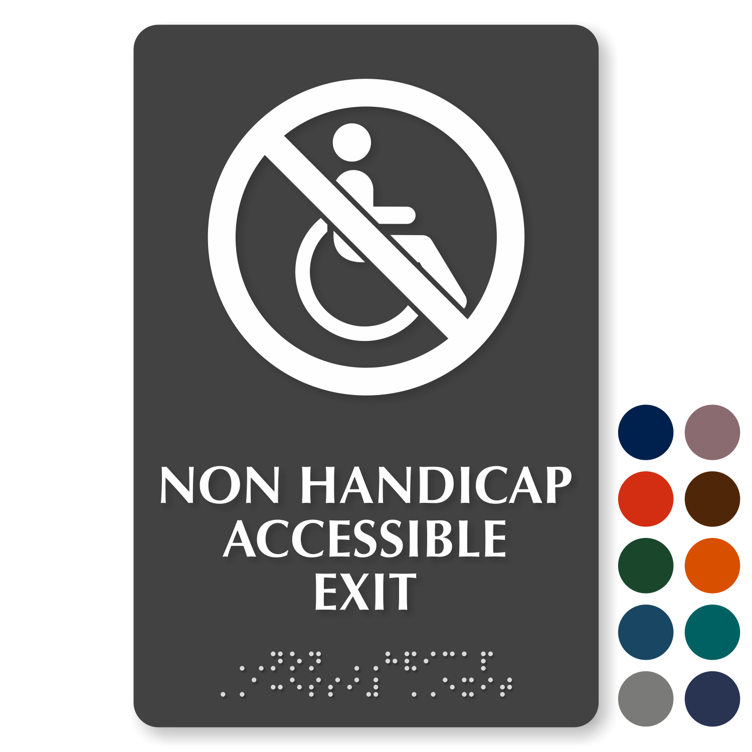 ADA Braille Exit Signs | ADA Exit Signs