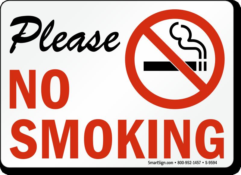 No Smoking Labels Please No Smoking Sku S 9594