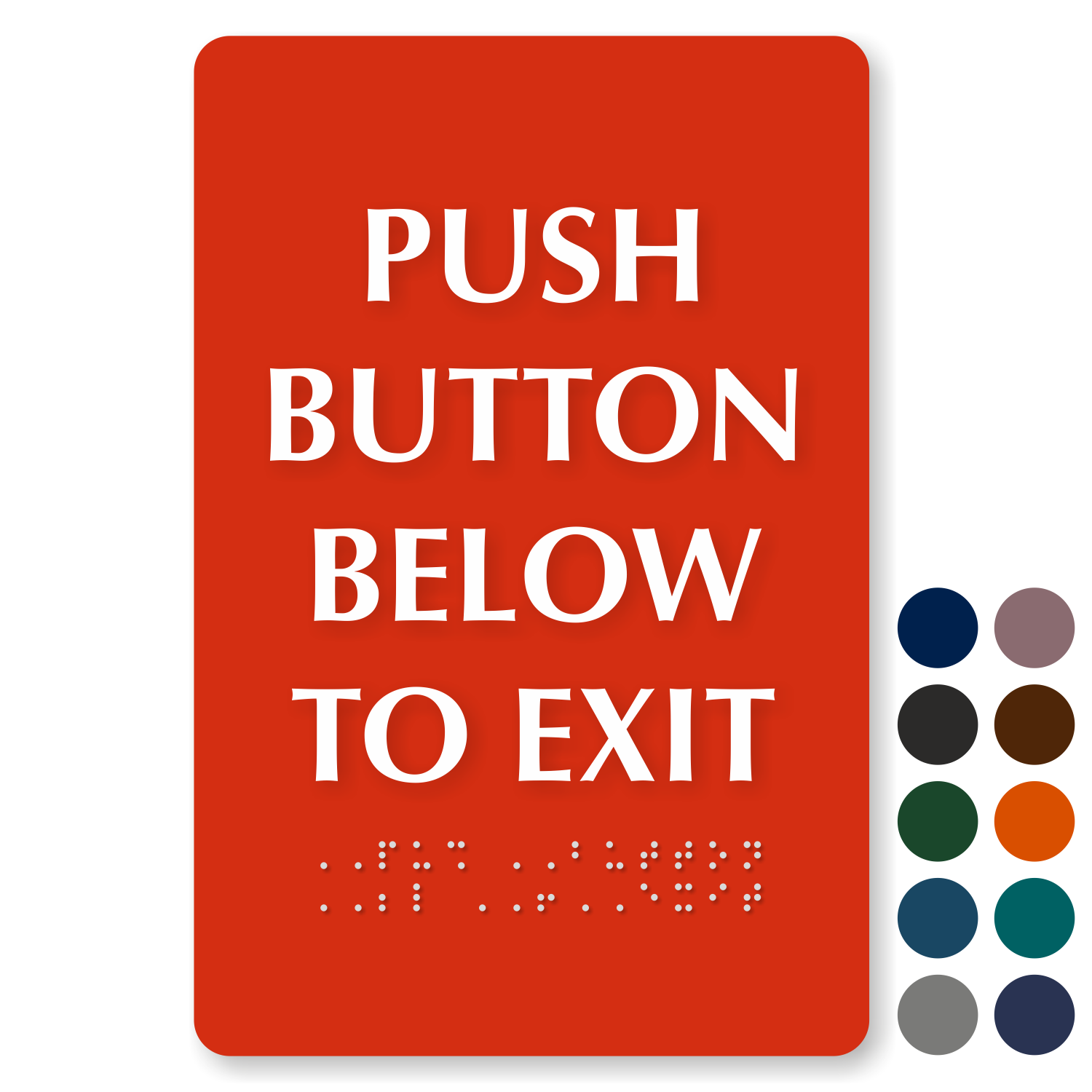 push button below to exit braille engraved sign online sku se 2711 9 x 6 tactiletouch braille sign push button below to exit tactile touch braille