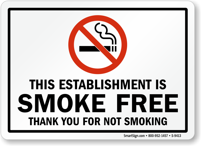 image relating to Printable No Smoking Signs named This Institution Is Smoke Absolutely free Indicator, SKU: S-9413